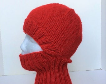 Oversized Hat  T930 Fetish Balaclava Gray Wool Balaclava Woolen  Beanie Slouchy Hat Winter Ski Mask Hat Knit Hat