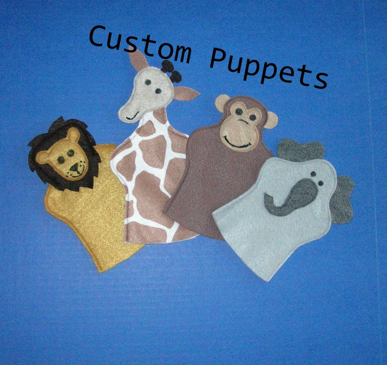 Custom Puppet / Party Favors / Felt Handpuppet / Birthday image 0