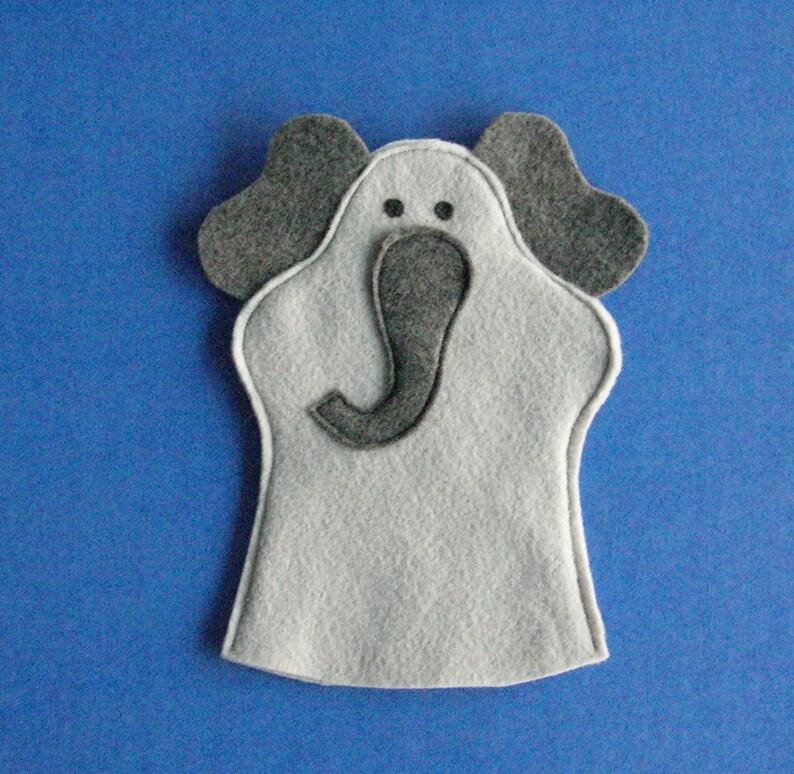 Elephant Puppet / Felt Hand Puppet / Party Favor image 0
