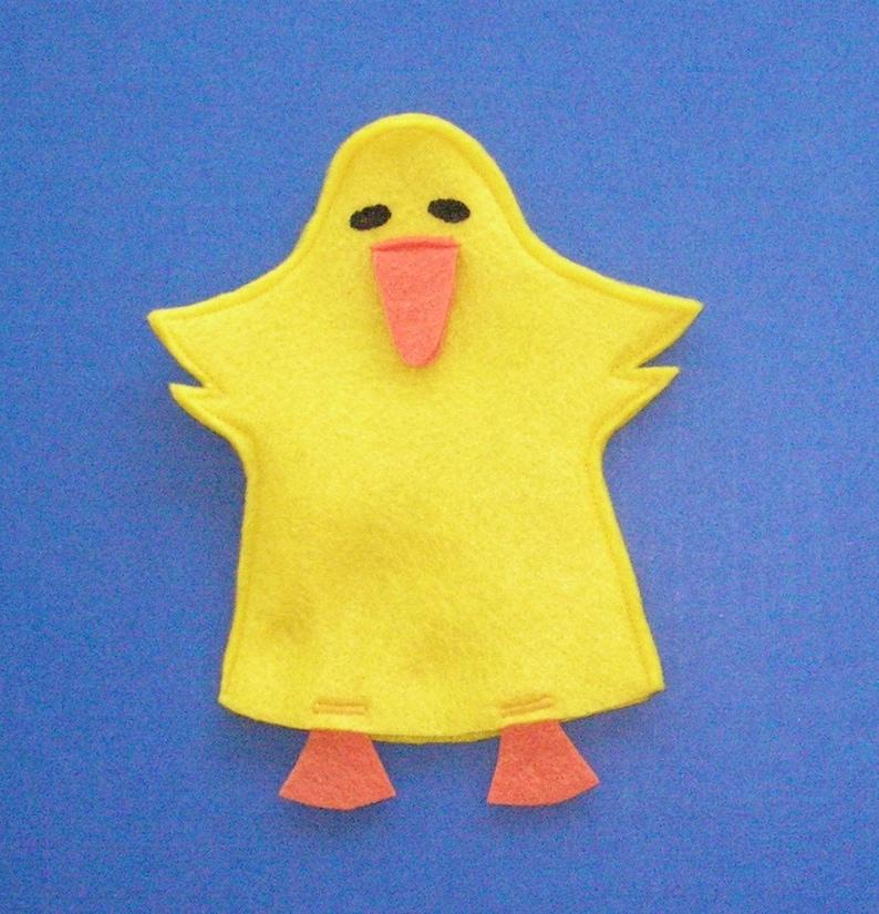 Duck Felt Hand Puppet / Duckling Puppet / Birthday Party image 0
