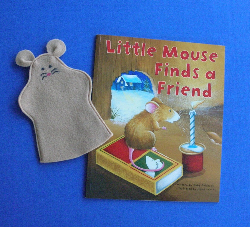 Mouse Hand Puppet and Book Set / Mouse Puppet and Book image 0