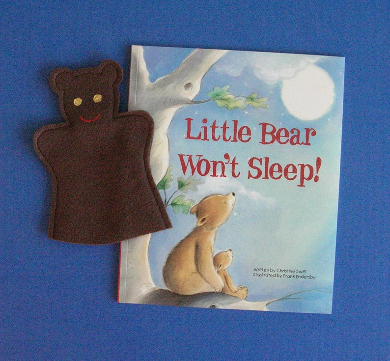 Bear Hand Puppet and Book Set / Brown Bear Puppet and Book image 0
