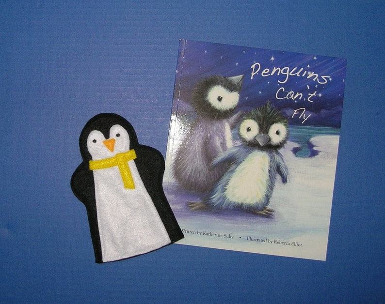 Penguin Puppet and Book Set / Felt Hand Puppet / Penguin Party image 0