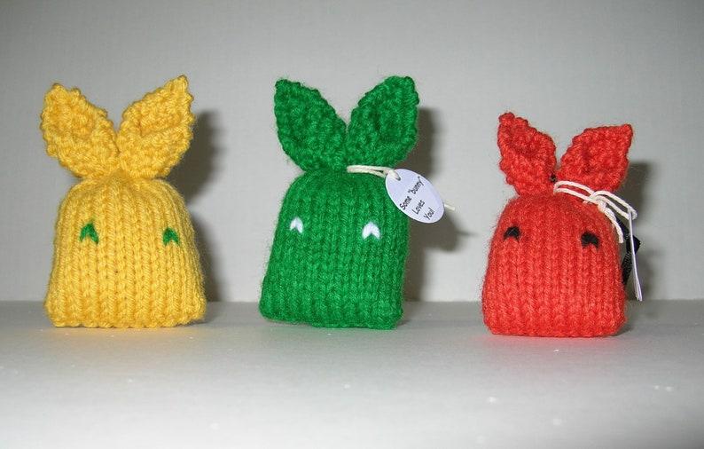3 Mini Bunny Plushie / Set of 3 / Easter Basket Toy image 0