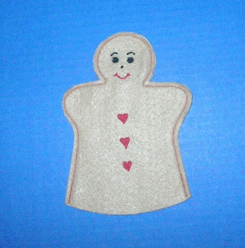 Gingerbread Man Puppet / Gingerbread Boy Felt Hand Puppet / image 0