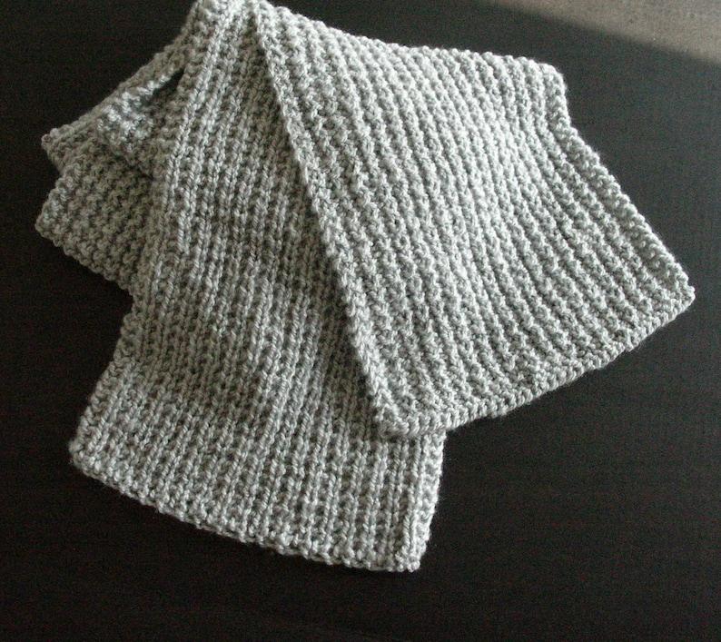 Gray Super Scarf / Hand Knit Large Scarf / Grey Shawl / Wool image 0