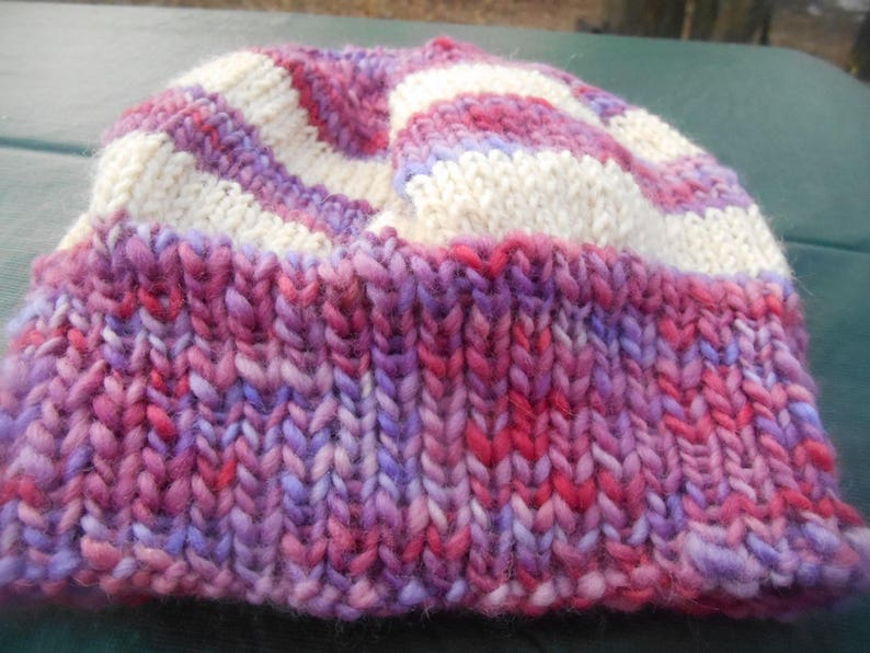 a58ba47ec3c Hand knit knitted merino and cormo wool hat hand dyed hand