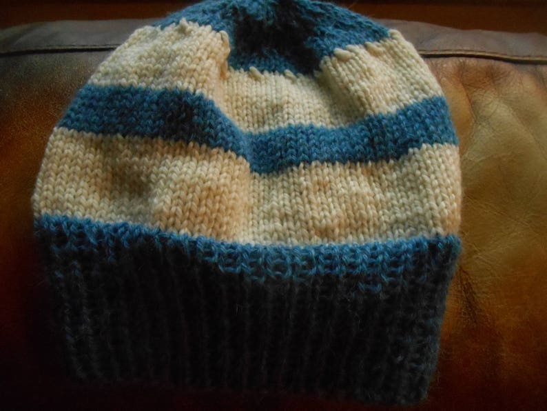 535050ee800 Hand knit knitted llama cormo wool hat cap beanie watchcap