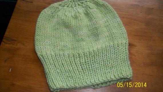 53e82fb13e1 Hand knit knitted watch cap hat Auraucania Nature wool light