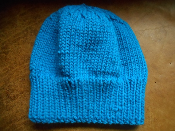 c25fe174f4e Hand knit knitted Peruvian Highland wool hat watch cap beanie
