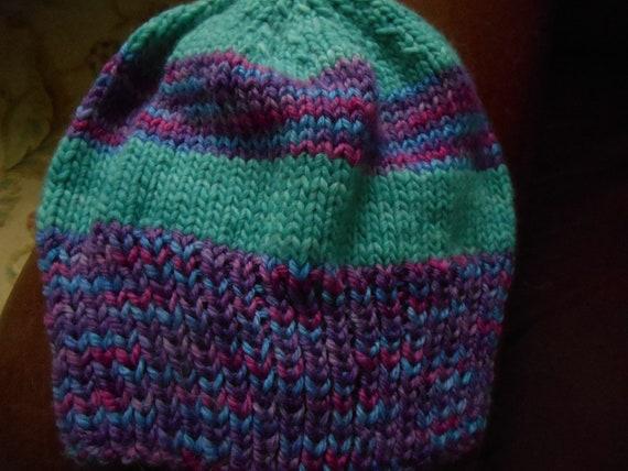 e88f4edbec7 Hand knit hand dyed malabrigo merino Lorna s laces hat