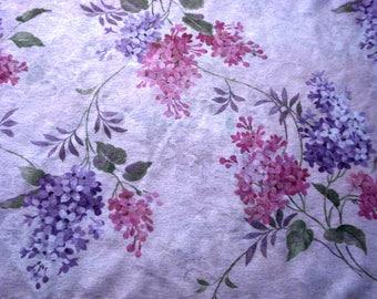Spring Lilacs Onionskin Knit Fabric