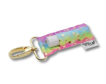 Rainbow Celestial LippyClip® Lip Balm Holder