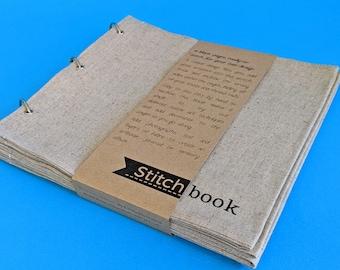 Blank Fabric Sketchbook - Large Linen