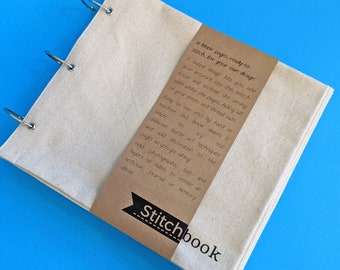 Blank Fabric Sketchbook - Large Cotton