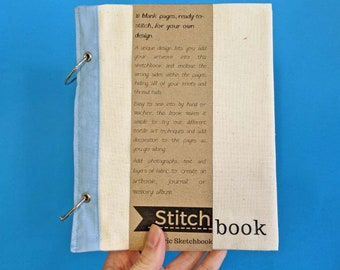 Blank Fabric Sketchbook (Cotton and Blueberry)