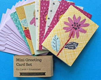Mini Greetings Card Set (9 cards and envelopes)