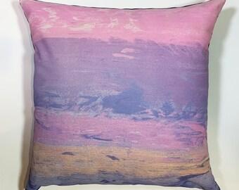 pastel jupiter screen printed pillow cover