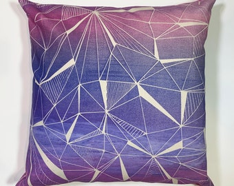 amethyst screen printed pillow cover