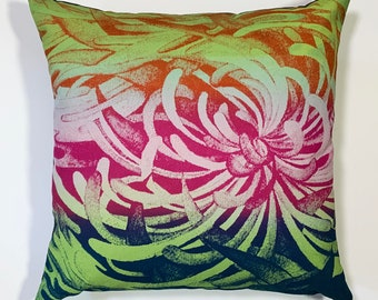 watermelon spider mum pillow cover
