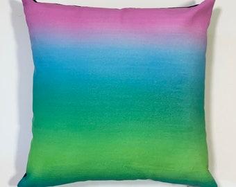 jewel tone gradient pillow cover
