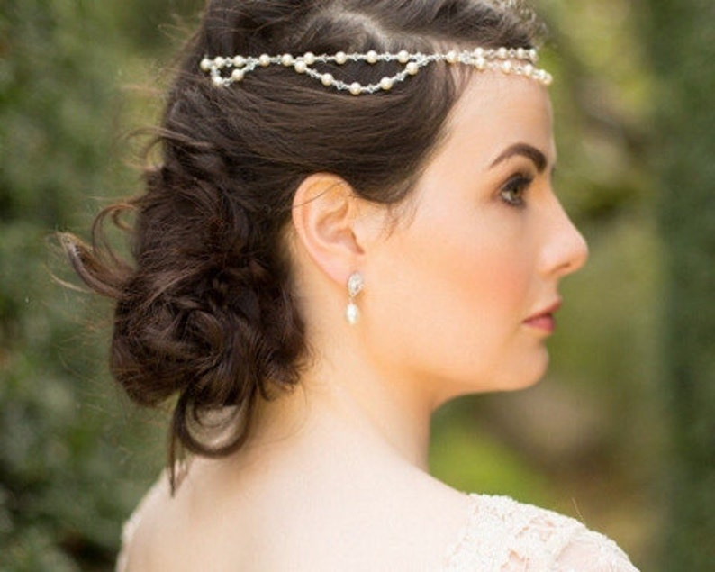 St.Tropez Bohemian Style Pearl and Crystal Headband