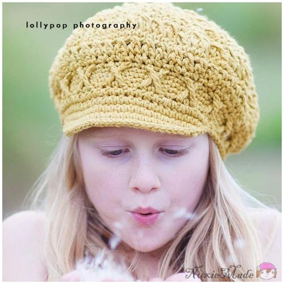 f95876bb63d Items similar to 5T-Preteen Crochet Hat Girls Hat Kids Hat Newsboy Hat  Newsgirl Hat Child Hat Apple Cap Winter Hat Fall Hat Childrens Hat Crochet  Girls Hat ...