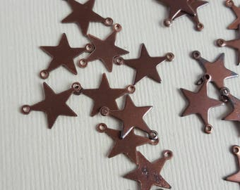 Vintage copper star charms