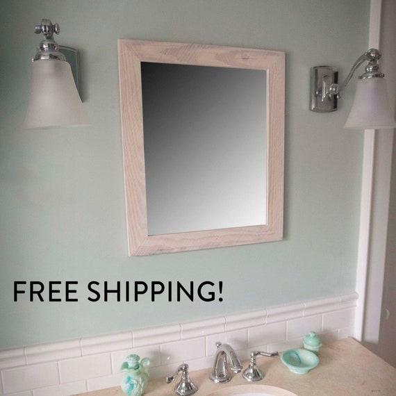 prodigious Etsy Vanity Mirror Part - 9: 30x34 Vanity Mirror Reclaimed Wood Vanity Mirror FREE | Etsy