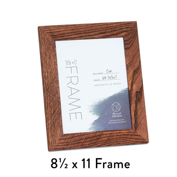 85x11 Picture Frame Reclaimed Wood Frame Custom Color Etsy