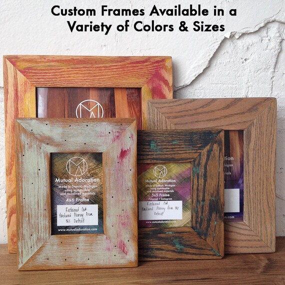 4x6 Picture Frame Reclaimed Wood Frame Small 4 X 6 Photo Etsy