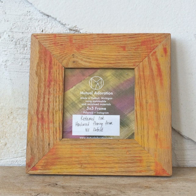 5x5 Picture Frame Reclaimed Wood Frame Square Photo Frame Etsy