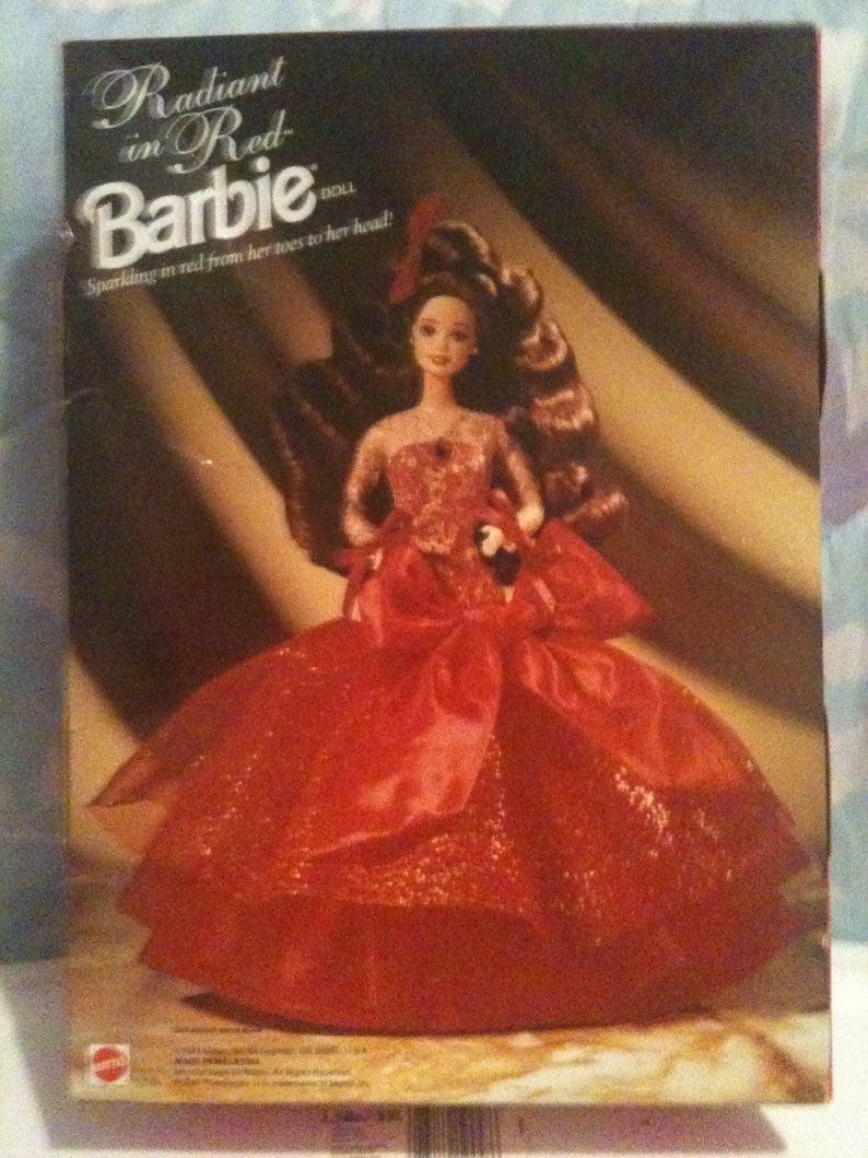 NEW in box... BaRBie... Radiant in Red... ViNTaGe Doll... 1992 image 0