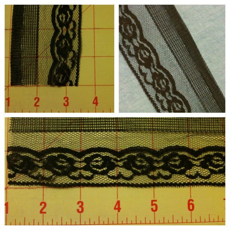 5 yards Black Lace 3 Designs to Choose from image 0
