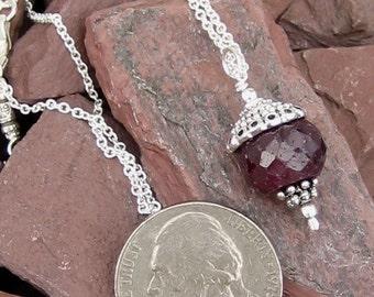 July Birthstone - Ruby necklace