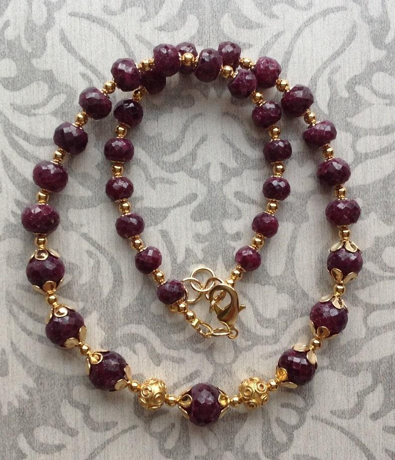 Maneka ruby necklace