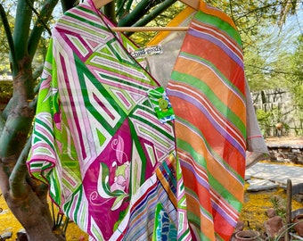 Trina- Cotton Voile Mixed Print Cover Up