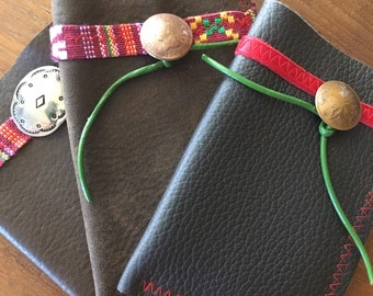 Card Case from Repurposed Leather and Vintage Finding