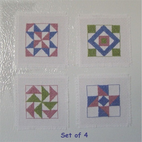 50 BLANK SQUARE FRIDGE MAGNETS 80mm SUIT CROSS STITCH