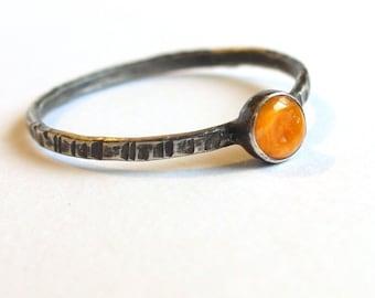 Tiny Orange Oyster...  Ring.  Stacking.  Dainty.
