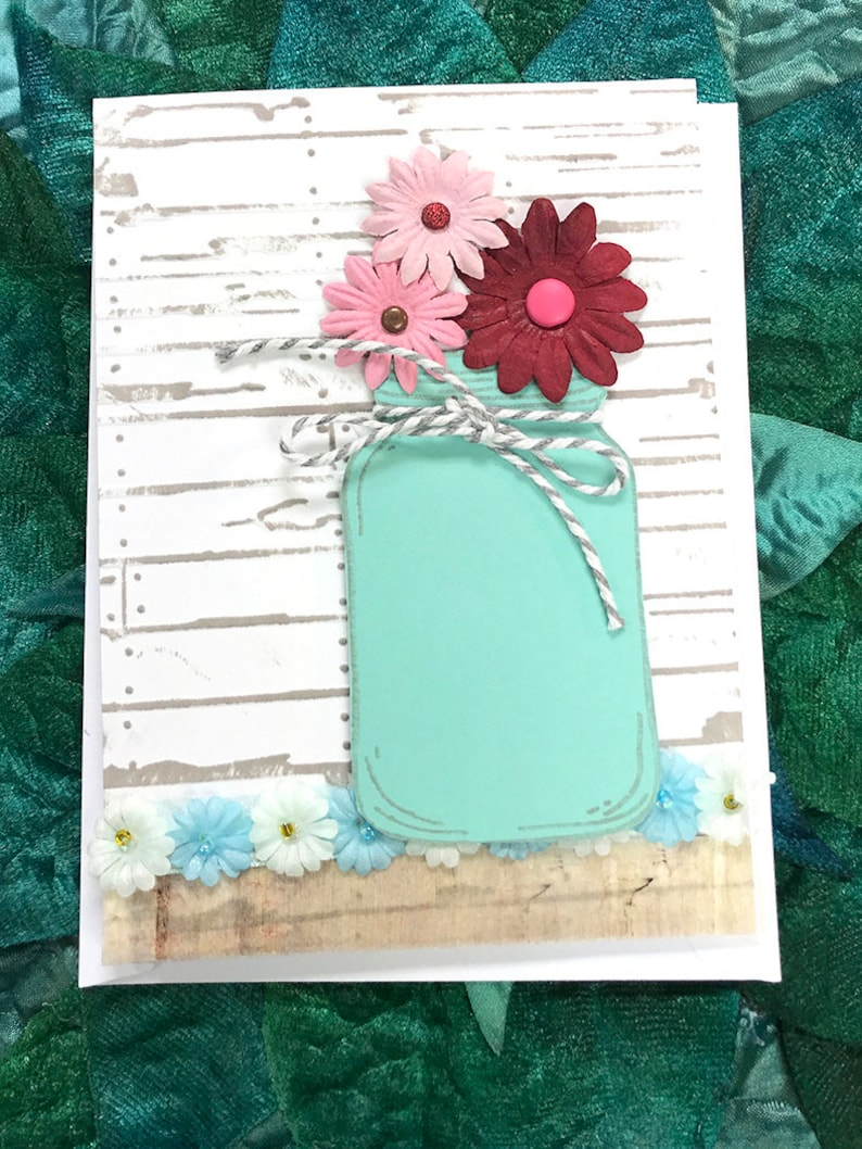 Mom You Are Special Dark Red And Light Pink Floral Mason Jar Etsy