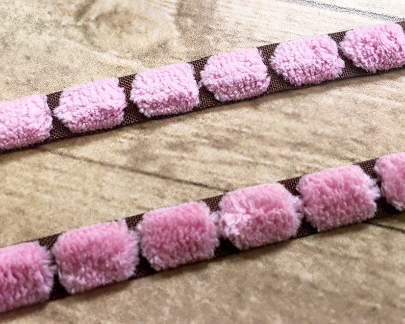 2 Yard Brown Pink Zigzag Ribbon Trimming Craft Sewing DIY Embellishment 10mm