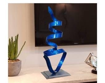 Metal Sculpture Modern Centerpiece Indoor Outdoor Art Coffee Etsy