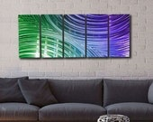 Modern Metal Wall Art, Multi Panel Wall Art, Abstract Painting, Large Artwork, Wall Hanging - Mardi Gras Synchronicity by Artist Jon Allen