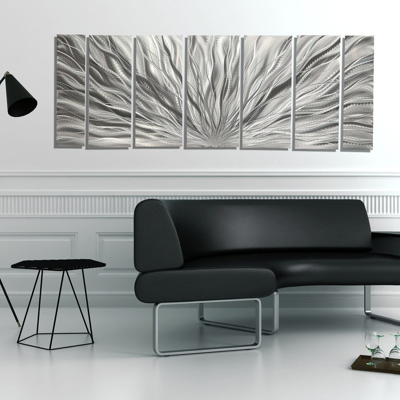 Large Metal Wall Art Multi Panel Wall Art Indoor Outdoor image 1