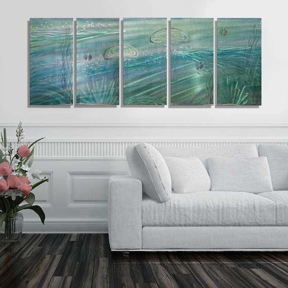Statements2000 Metal Wall Art Modern Silver Tropical Jellyfish Decor Jon Allen
