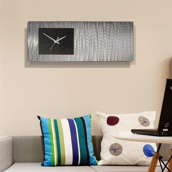 Statements2000 Abstract Metal Wall Clock Art Decor by Jon Allen Blue Radiance