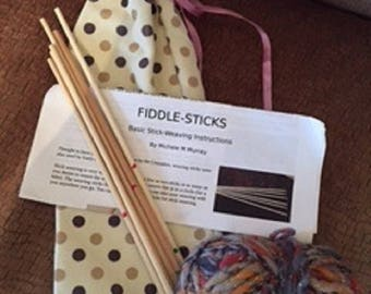 My Fiddle-sticks  -Stick Weaving