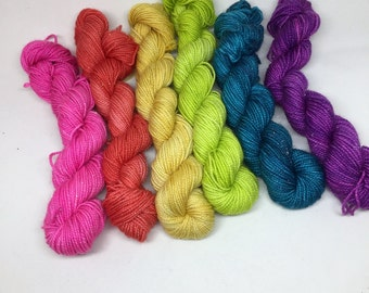 ombre glitz six packs- 6, 20g mini skeins)