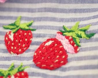 Strawberry Jam Recipe - Embroidered Decor Art Hankie